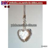 Decorazione di cristallo dell'ornamento dell'albero di Natale del cuore degli elementi del partito (CH8081)