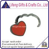 Cintre fait sur commande de bourse de sac de forme de coeur de logo de qualité