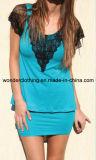 Spitze-Form Cutton heißes Verkaufs-Partei-Frauen-Kleid