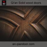Porte plaquée en bois solide de teck