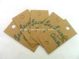 Het bruine Document van Kraftpapier hangt Markeringen voor de Kleding van Jeans