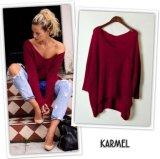 Pullover allentato europeo più il maglione di lavoro a maglia di formato per le donne