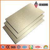 Venda quente painel composto de alumínio escovado da prata do ouro 2016