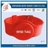 Bracelet de silicones d'IDENTIFICATION RF de mode