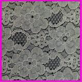 Ткань шнурка хлопка полиэфира тканья одежды Raschel Nylon
