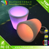 Inicio decorativo de resina LED de iluminación de jardín Tiesto
