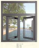 Matt-graues schiebendes Aluminiumfenster für den Wohnsitz gebildet in Fohan