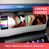 Vinilo al aire libre de encargo del PVC de la impresión que hace publicidad de la bandera con el remache