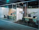 Materiales mobiliario de oficina utilizado panel de construcción precios pared de cristal (SZ-WST773)