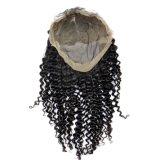 Perruques crépues de lacet de cheveux droits de Vierge malaisienne pleines