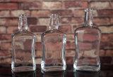 Superquadrat-Wodka-Flasche des feuerstein-750ml mit Bildschirm-Drucken