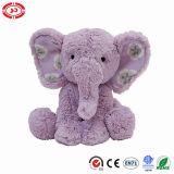 Cadeau mignon bourré mou animal se reposant pourpré de jouet de peluche d'éléphant