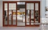 Aluminium en bronze Windows coulissant de couleur de qualité et portes FT-D126 avec le modèle de gril
