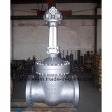 Valvola dell'estremità della galleria della flangia di funzionamento degli ingranaggi conici dell'acciaio di getto di API6d