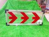 Poteau de signalisation de panneau de direction de pointage de flèche de DEL