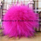 Trousseau de clés de Pompom de fourrure de raton laveur pour la décoration de garniture