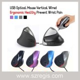 Vertikale verdrahtete ergonomische gesunde verhindern Handgelenk USB-Computer-optische Maus