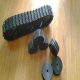 A trilha de borracha do mini robô com a condução/que suporta roda (100*20*76)