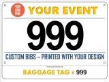 Nuevo producto de personalización Maratón Deporte de Números de papel Marca Bib