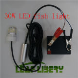 30W 12V Green Blue White Underwater LED Fishing Light Night Boat Attracts Fish Squid