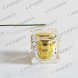 frasco de cristal acrílico do creme do olho do quadrado do ouro 30g para o empacotamento do cosmético (PPC-NEW-012)