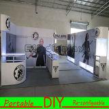 Présentoir réutilisable modulaire souple de métier de compteur de salon du Portable TV