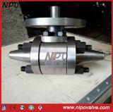 Válvula de esfera soldada Bw de aço inoxidável F22 Butt