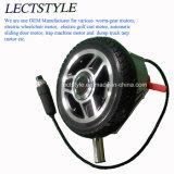 Motor de cubo de silla de ruedas con engranaje sin escobillas de 8 pulgadas con electrocerámica Magentic Maneta de freno y joystick