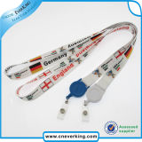 Custom Sublimation impresión Badge Reel Lanyards para la venta
