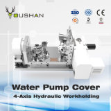 Dispositivo elétrico hidráulico de Workholding da tampa da bomba de água com centro fazendo à máquina de Doosan