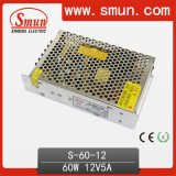 CE RoHS 2 Year Warranty (S-60-12) de 60W 5V/12V/15V/24V/36V/48V Single Output Switching Power Supply/SMPS