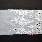 Merletto del ricamo della guipure del tessuto di maglia del reticolo di fiore per vestiti