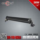 14 인치 36W (12PCS*3W) 연필 또는 플러드 광속 단 하나 줄 크리 사람 LED 표시등 막대