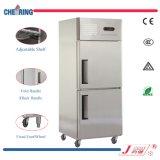 frigorifero commerciale & congelatore dell'acciaio inossidabile del Doppio-Portello 0.8LG per l'hotel o il ristorante