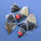 مثلّث حقيبة شاي [بكج مشن] مع خيط سنّ اللولب وبطاقة
