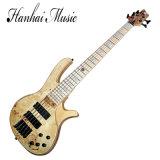 Guitare basse électrique de couleur en bois normale de musique de Hanhi/5 chaînes de caractères