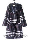 Capa caliente de Hoody de las lanas del invierno de las mujeres de la ropa de moda de la alta calidad