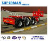 Trois essieux 20FT Container Dumper Semi Truck Trailer / Tipper Trailer