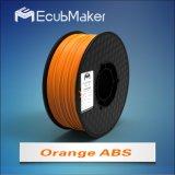 3D 인쇄 기계 오렌지 색깔을%s 1.75mm 아BS 필라멘트