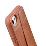 Caixa protetora abundante da carteira do couro do caso da tampa da tecnologia da proteção do caso RFID de C&T TPU com a ranhura para cartão para o iPhone universal 6 6s & o iPhone 7