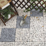 Modèle de marbre blanc personnalisé insonorisé de tuiles de tapis de plancher de quartz de mariage antique de 1 pouce DIY à vendre