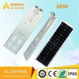 60W preiswerter LED Beleuchtung-Hersteller-im Freien integrierter Solargarten/Straßenlaterne/Licht
