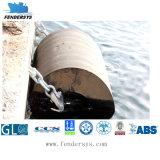 Defensa de goma cilíndrica de la nave y del muelle
