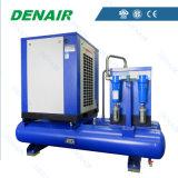 Tutti in uno unito/hanno integrato il compressore d'aria rotativo guidato della vite