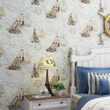 PVC Wallcovering, papel de empapelar del PVC, tela de la pared del PVC, papel pintado moderno del PVC