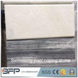 Mattonelle di marmo bianche del coperchio della piscina delle pietre per cimasa della piscina