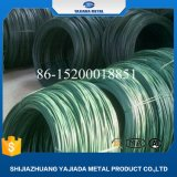 Alambre de acero con poco carbono revestido del PVC para la fábrica de la tela metálica