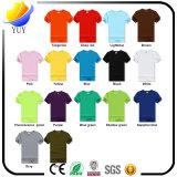 주문을 받아서 만들어진 로고 면 t-셔츠 및 선전용 의류