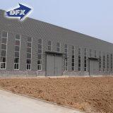 Alto capannone facile/gruppo di lavoro/magazzino della struttura d'acciaio di configurazione di Qualtity con la gru