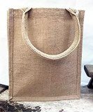 saco de Tote de serapilheira 100%Jute como sacos de /Shopping /Lunch do mantimento